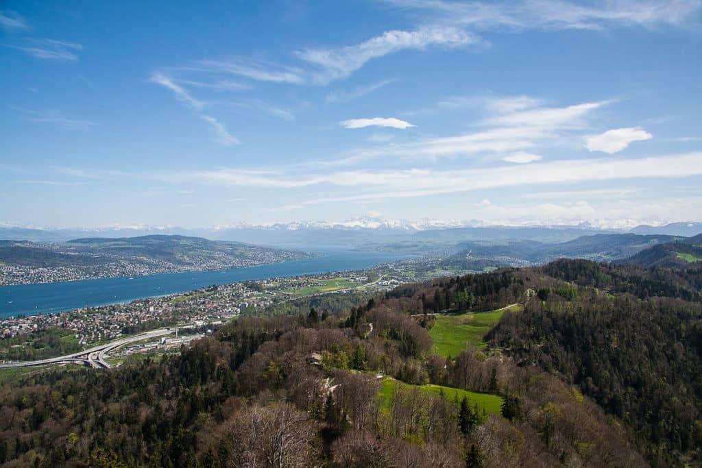 Uetliberg Mountain View: Beautiful Places in Switzerland