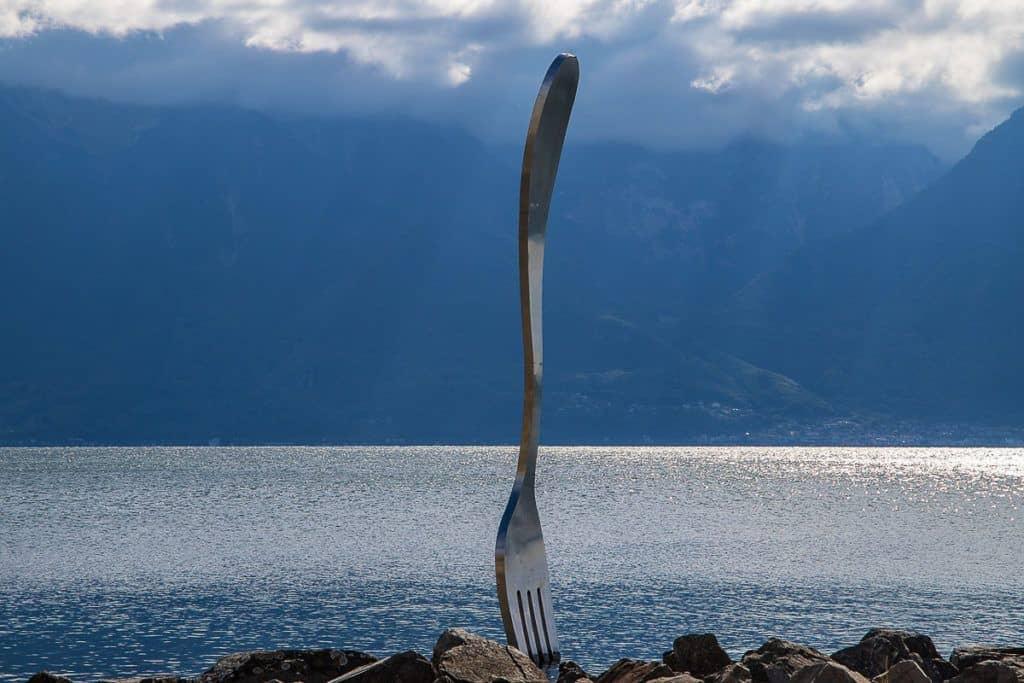 Vevey: Fork in Lake