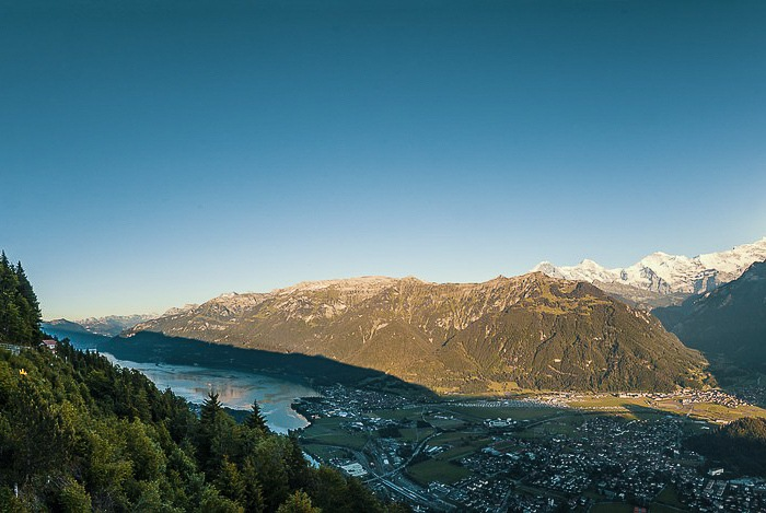 Views from mountain over valley: Beautiful Places in Switzerland