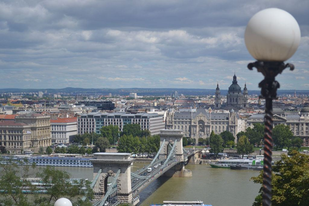Budapest - View of Old Chain Bridge from Pest