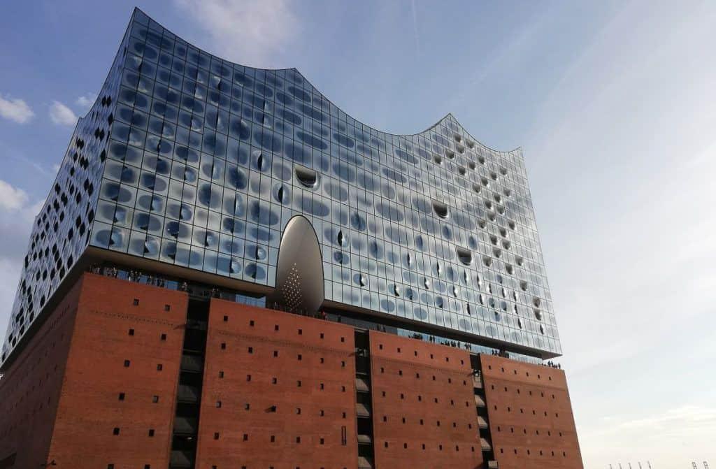 Babymoon in Europe - Hamburg - Theatre building covered in metal