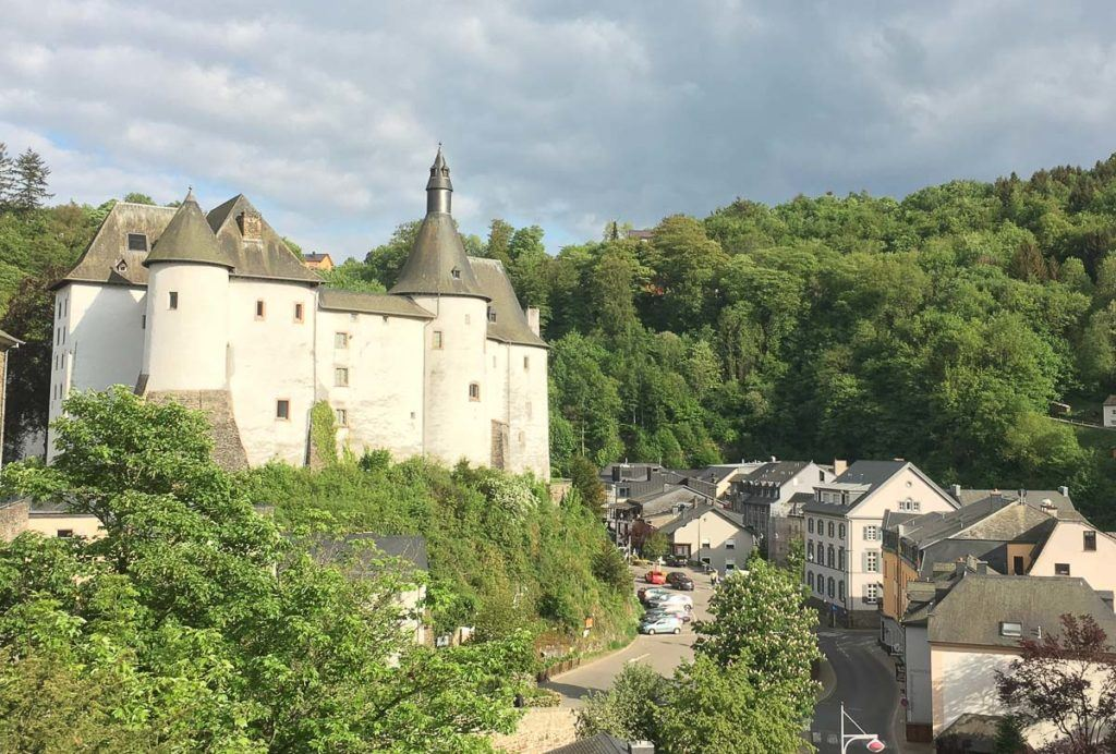 Luxembourg castle and street
