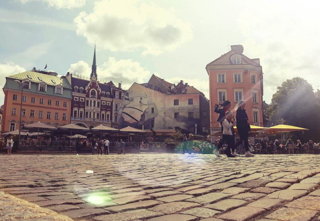 Babymoon Destinations Europe-Riga - Cobblestone Street in Old Town