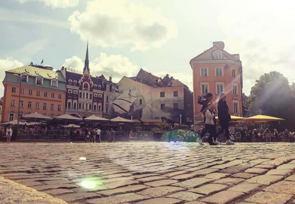 Babymoon Destinations Europe-Riga - Cobblestone Street in Old Town