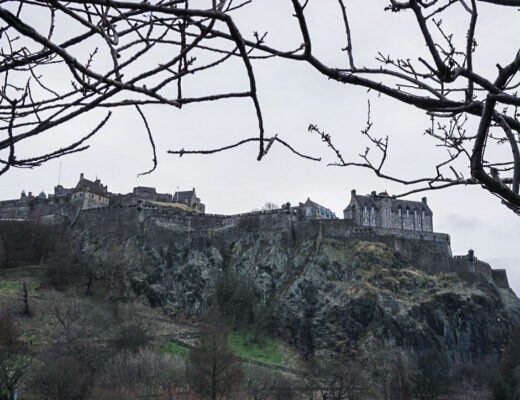Edinburgh Castle in winter