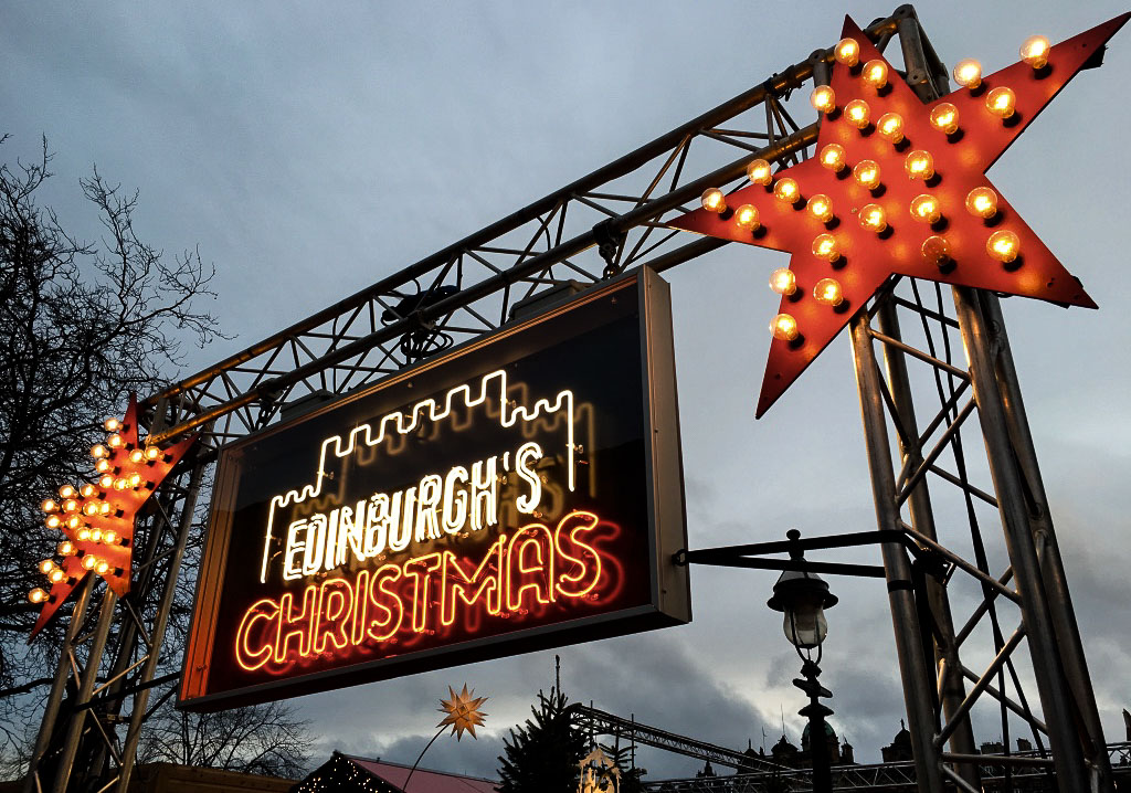Edinburgh Christmas Markets sign