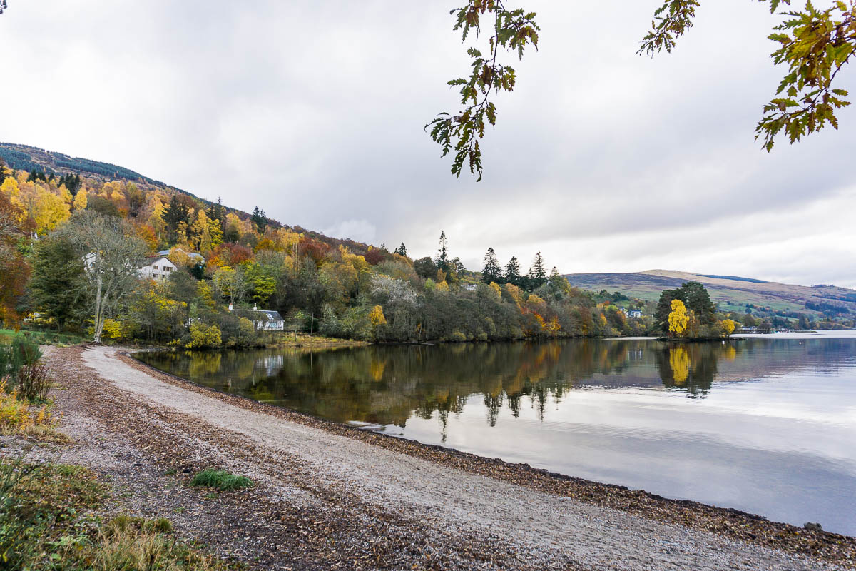 Small beach and Loch Tay