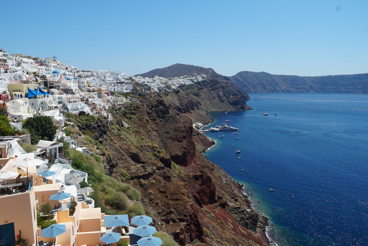 Europe in Spring - Santorini - View from the caldera