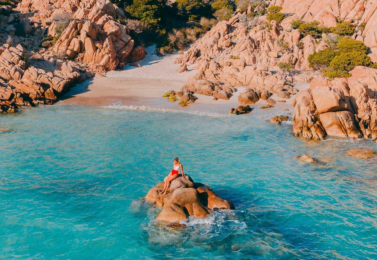 Europe in Spring - Sardinia - Girl on a Rock
