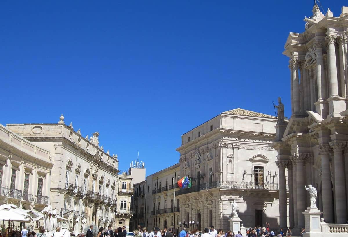 Piazza del Duomo Syracuse Sicily in Spring