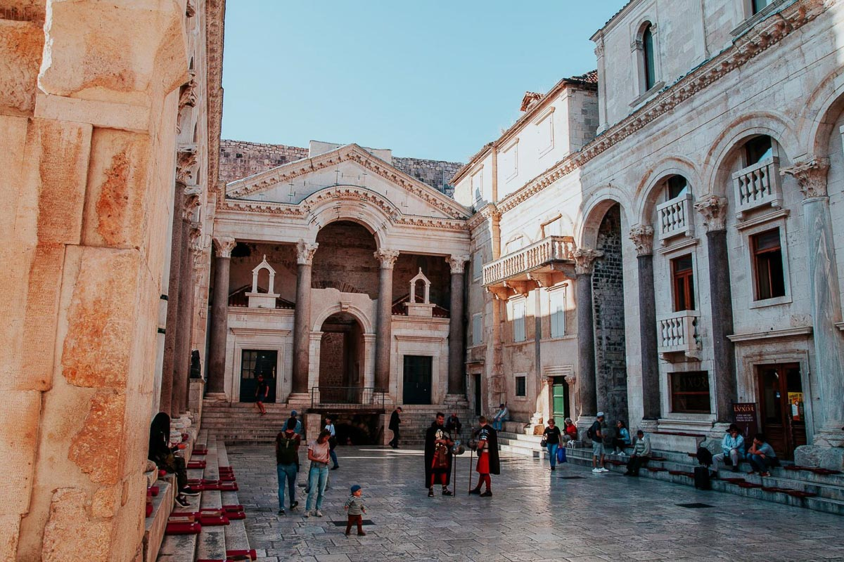 Europe in Spring - Split - courtyard
