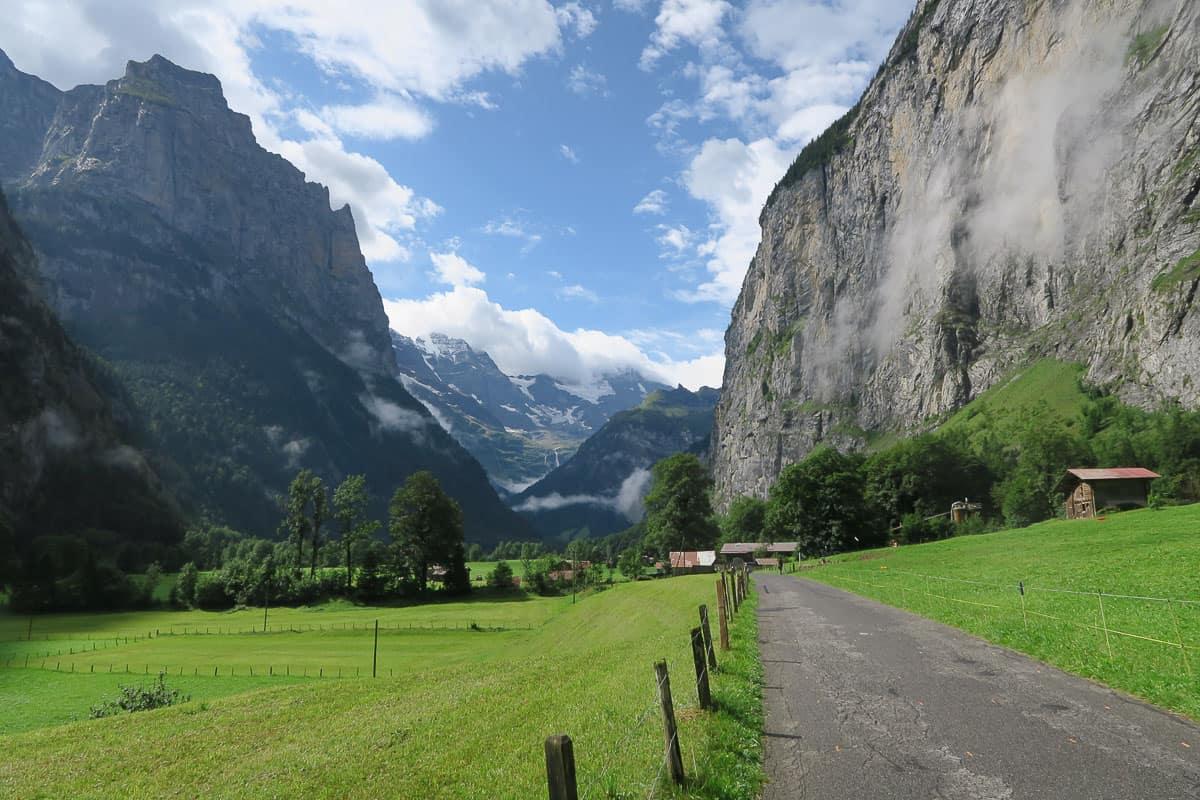 Europe in Spring - Switzerland - Walking path and mountains