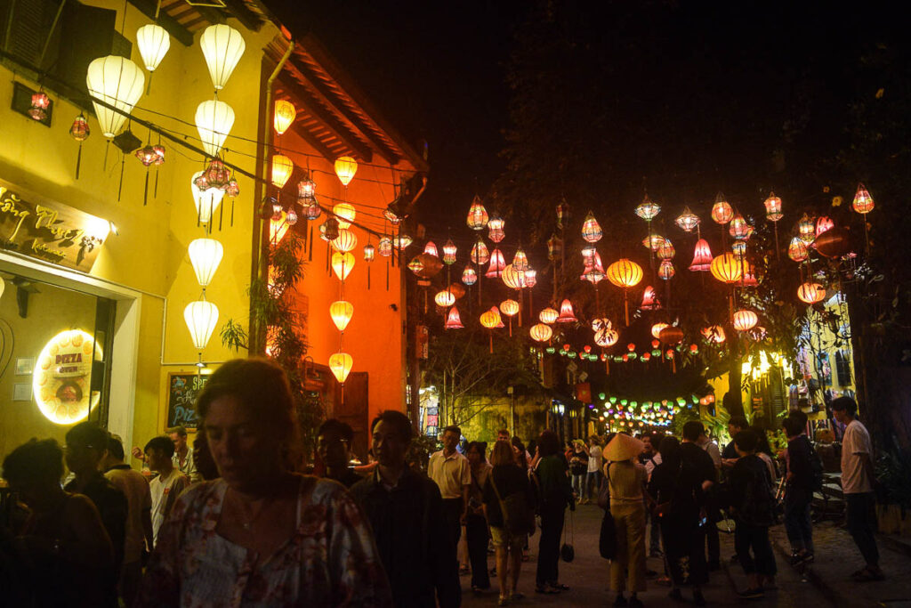 Hoi An Itinerary -Lanterns in Old Town Area of Hoi An Vietnam