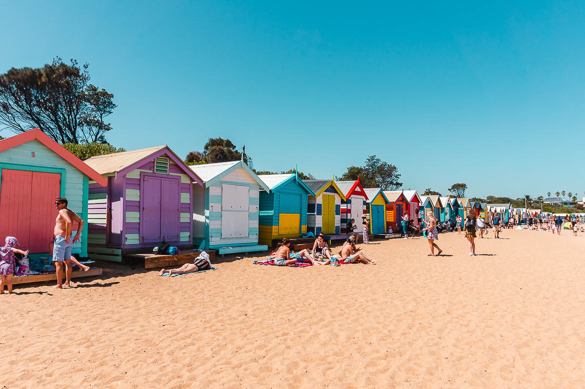 Solo Travel Melbourne-Brighton Bathing Boxes