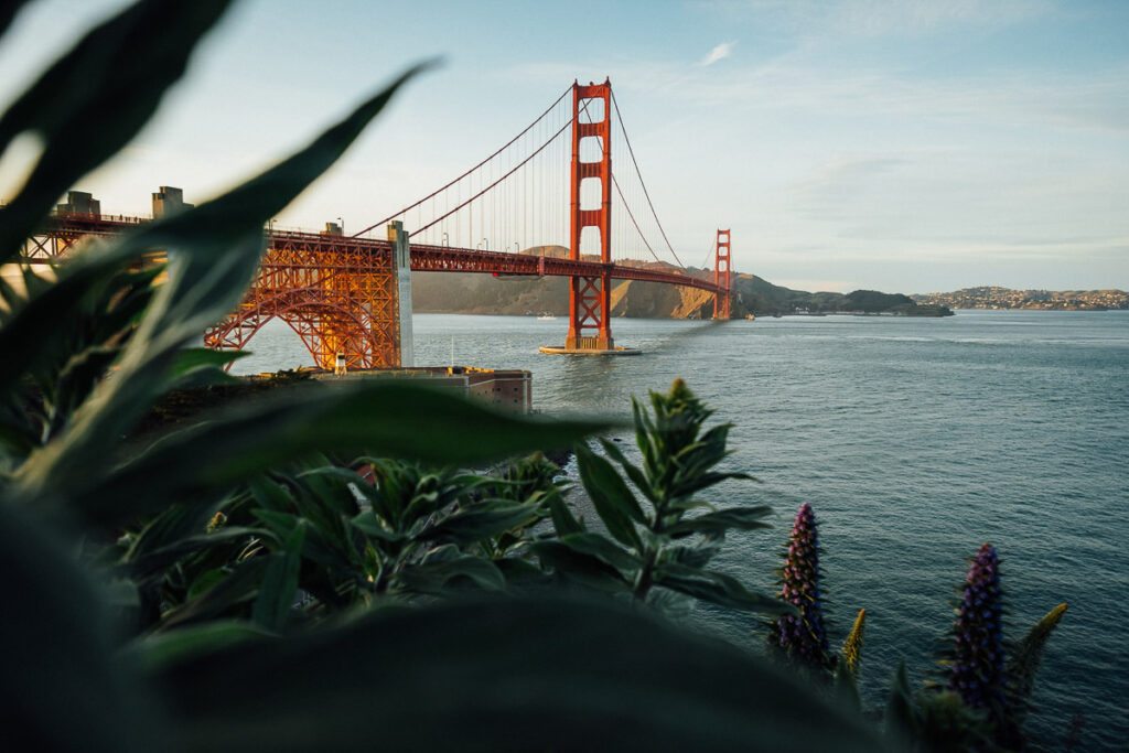 Romantic Places in the USA - Golden Gate Bridge