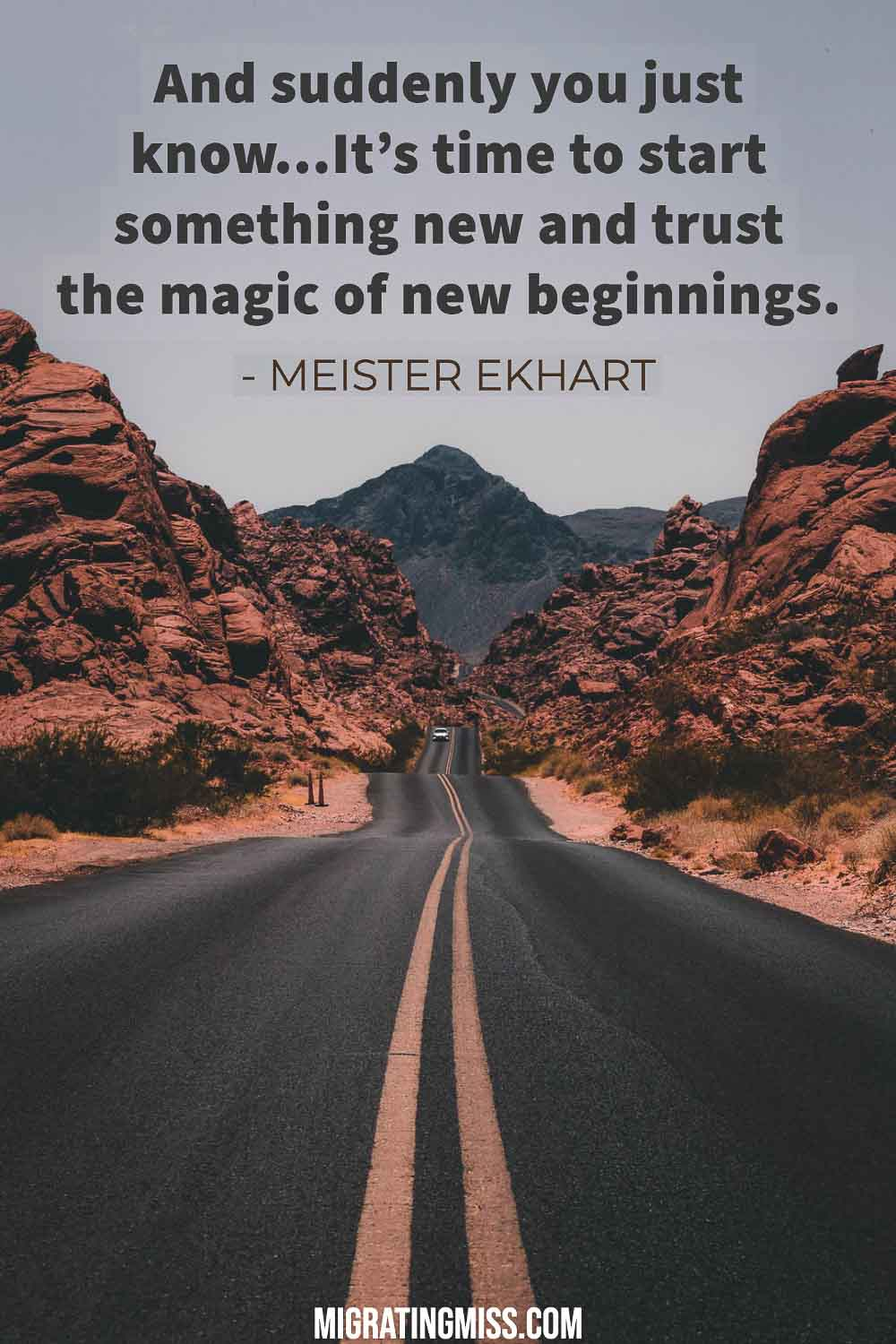 Moving beginnings and quotes on new about New Beginnings