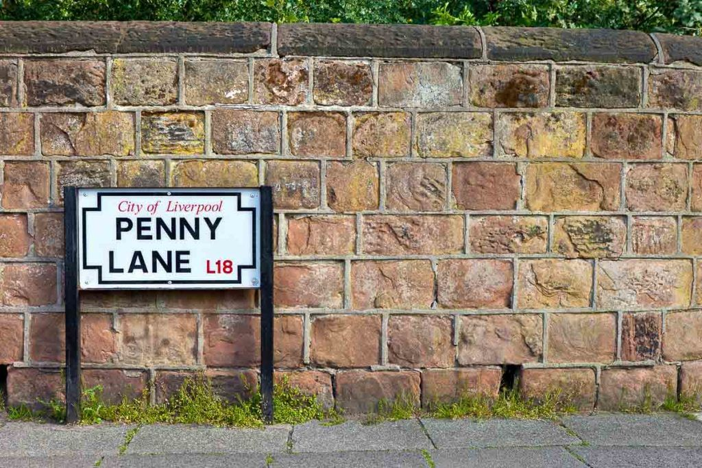 Penny Lane in Liverpool