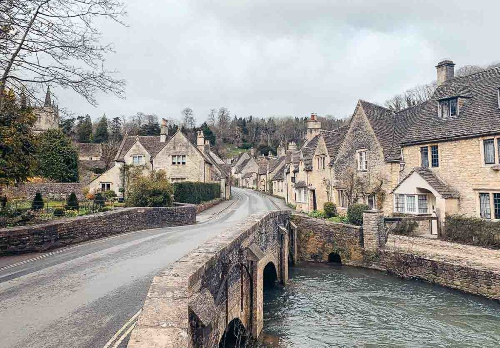 Bridge and Street in the Cotswolds