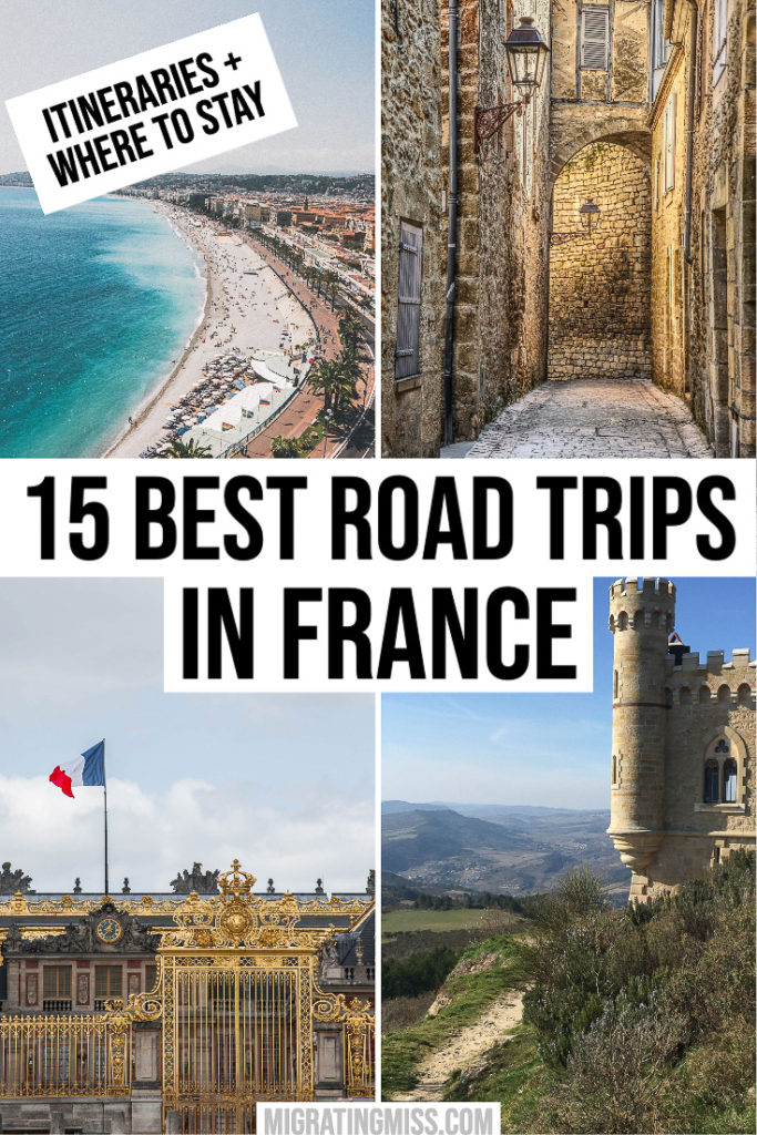 Best Road Trips in France Pin