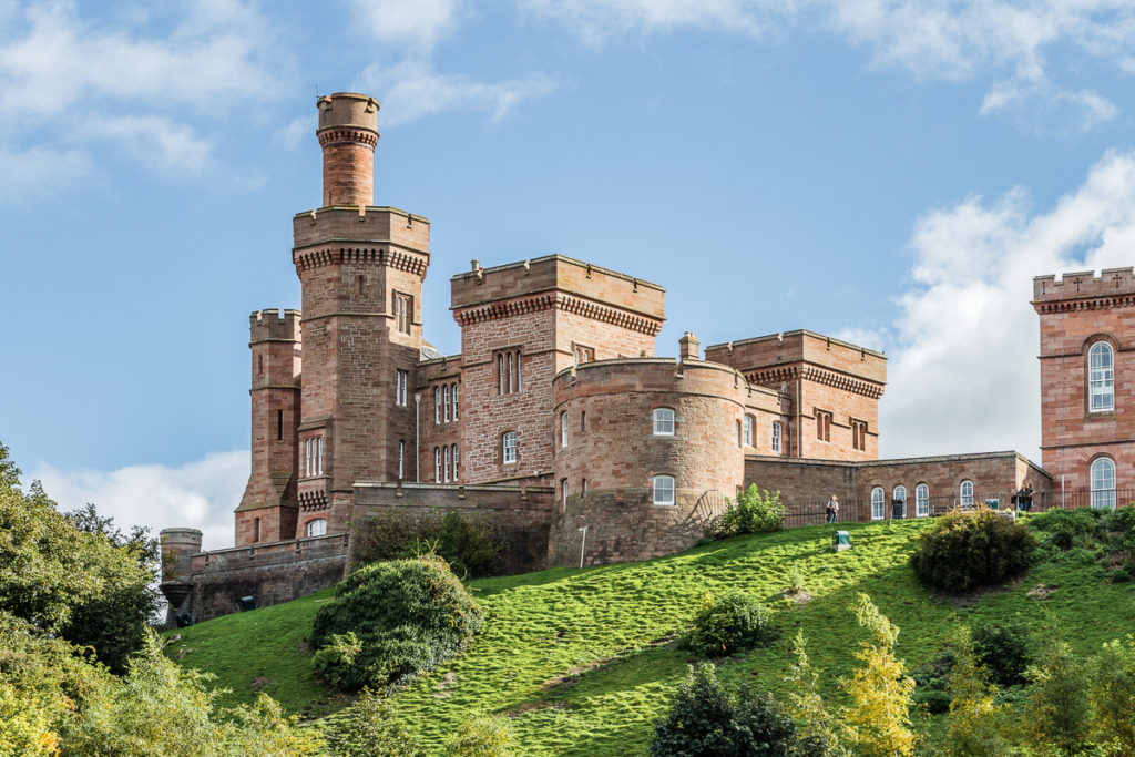 Inverness Castle on a hill - Inverness with Kids