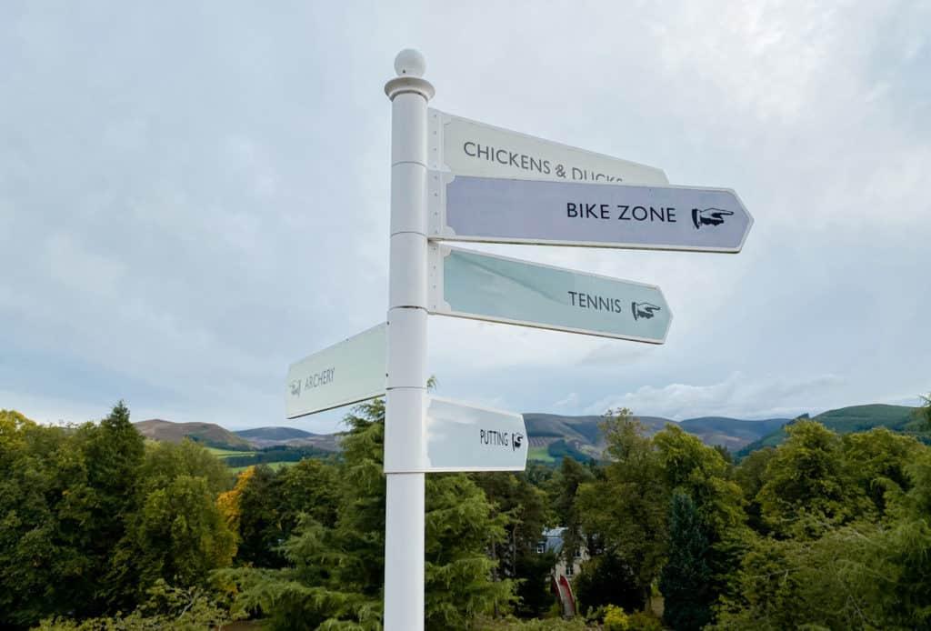 Peebles Hydro Activity Sign Scottish Borders