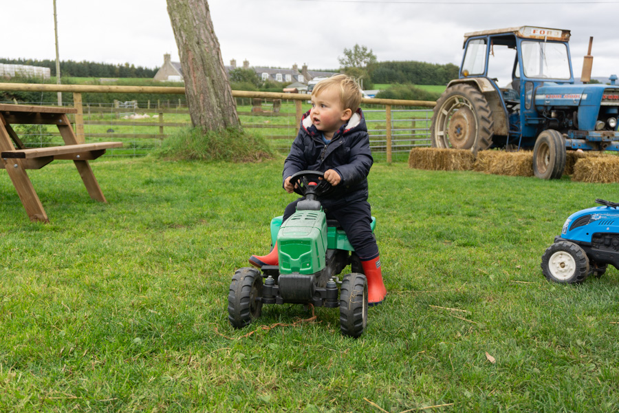 Jacksons at Jedburgh - Toddler on a tractor