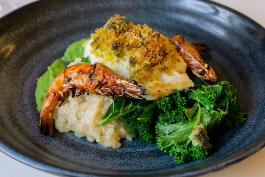 Cod, Prawns and Risotto at Peebles Hydro