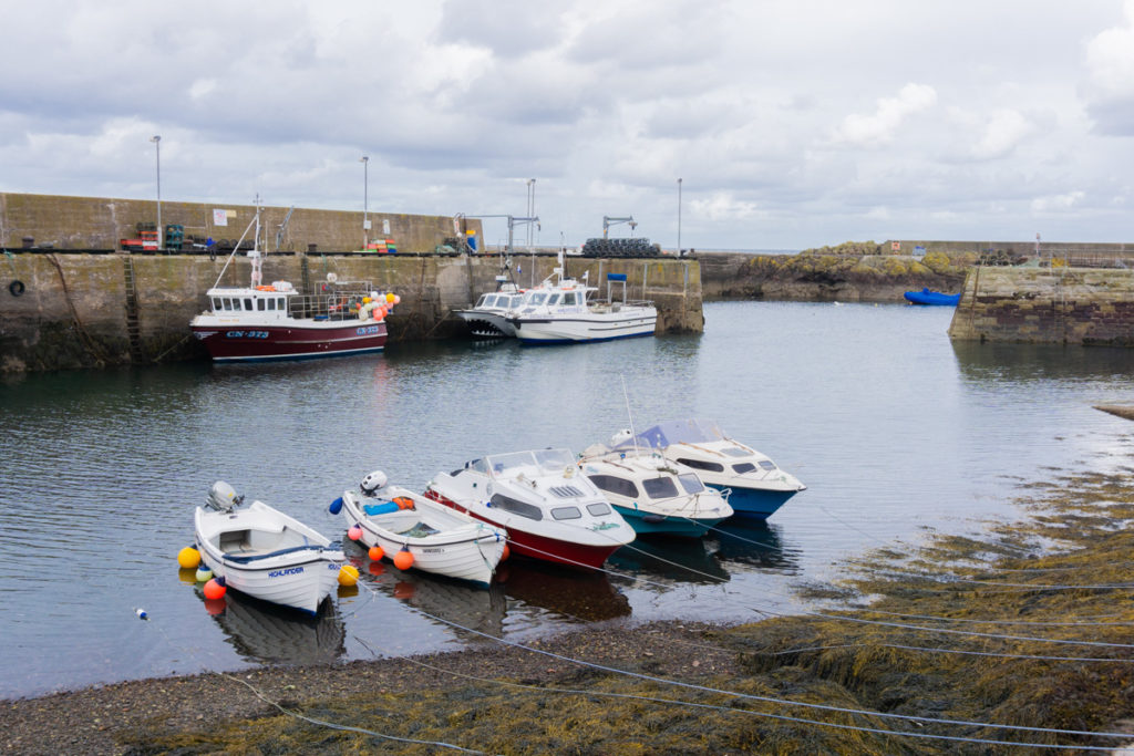 Boats in St Abbs Harbour - Things to Do in the Scottish Borders