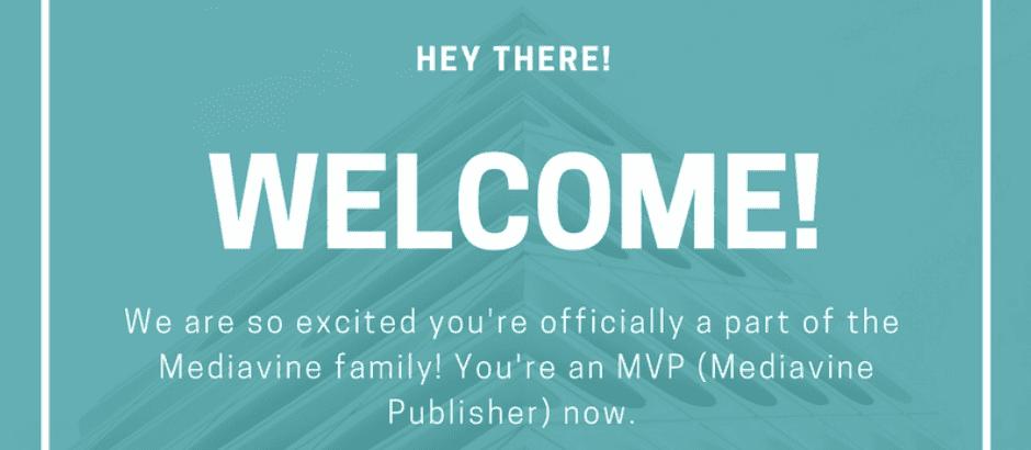 Welcome to Mediavine Screenshot