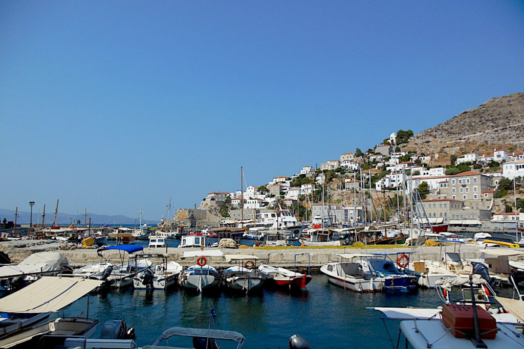 Best Greek Islands for Families - Hydra Harbour