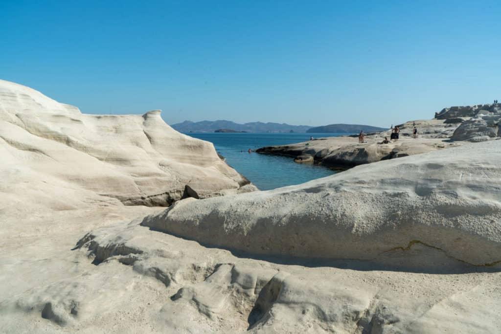 Best Greek Islands for Families - Rock formations in Milos