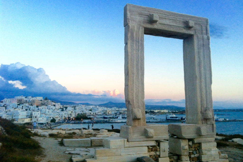 Best Greek Islands for Families - Apollos Door at Naxos