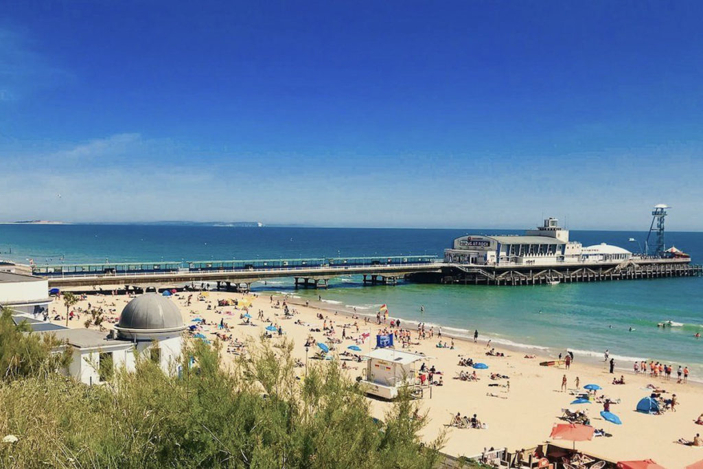 Bournemouth Beach in South England