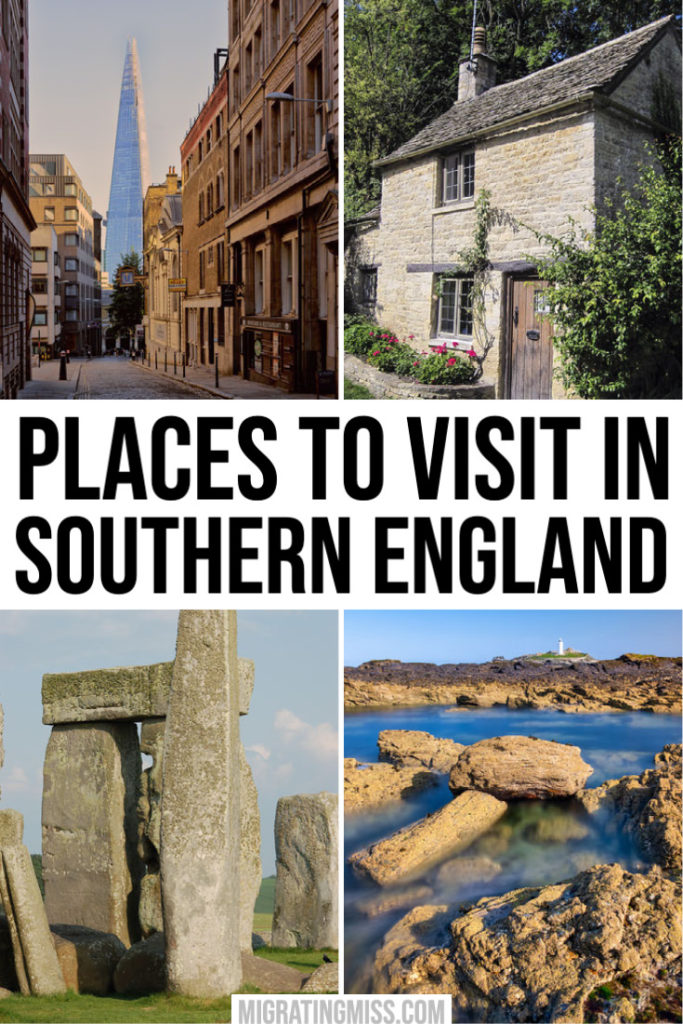 Best Places to Visit in Southern England Pin