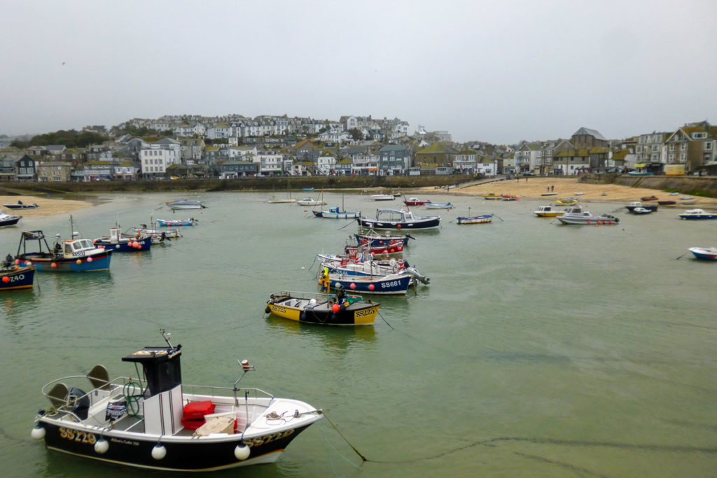 St Ives Harbour in Cornwall, South England