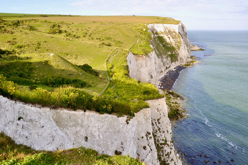 White Cliffs of Dover in Southern England