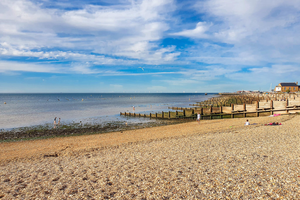 Whitstable Beach in South England