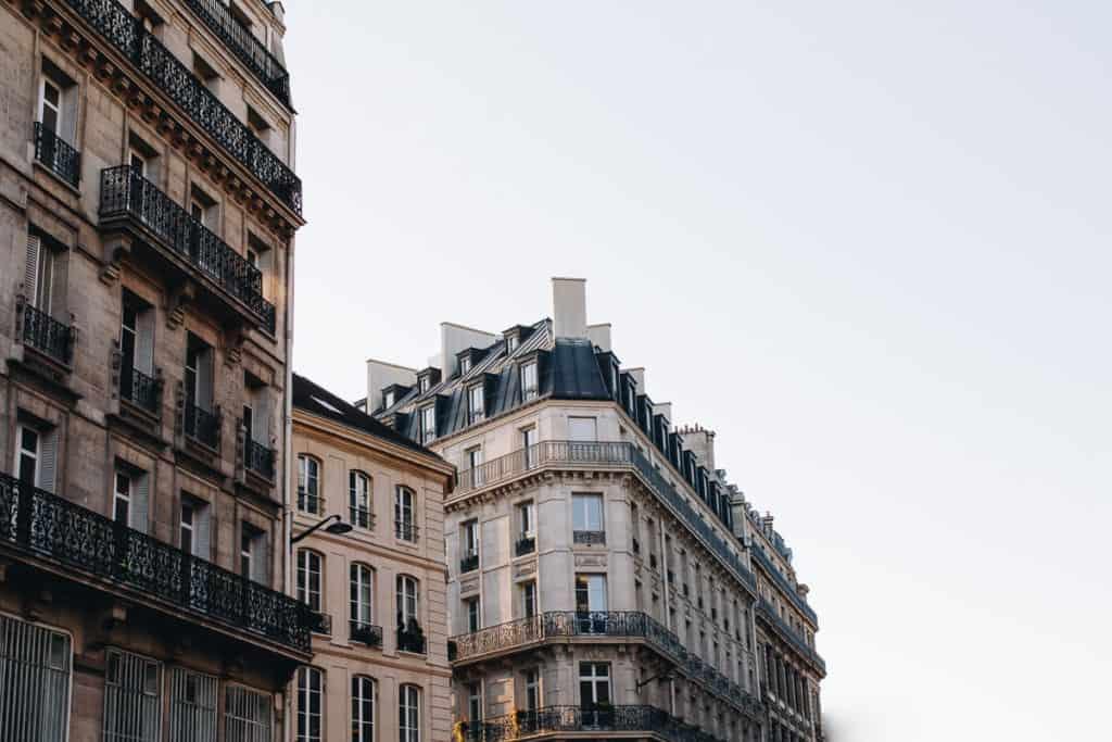 Paris in winter - Apartment buildings