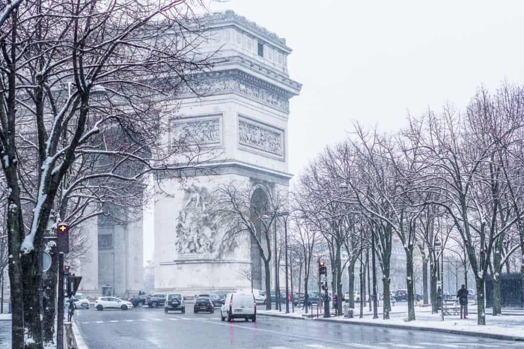 Paris in Winter - Arc de Triomphe