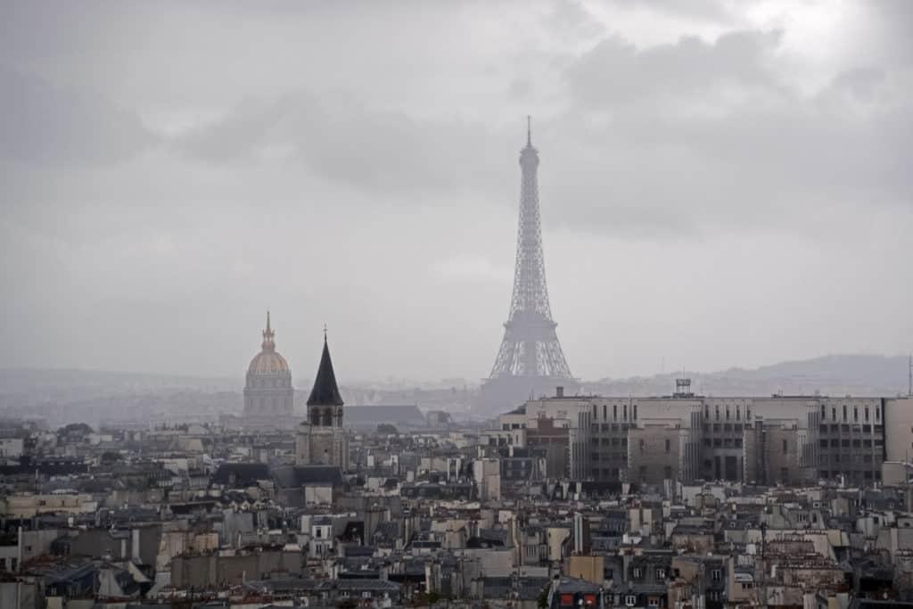 Paris in Winter - View of Eiffel Tower